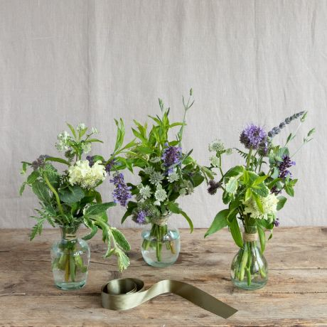 english wildflower vase trio