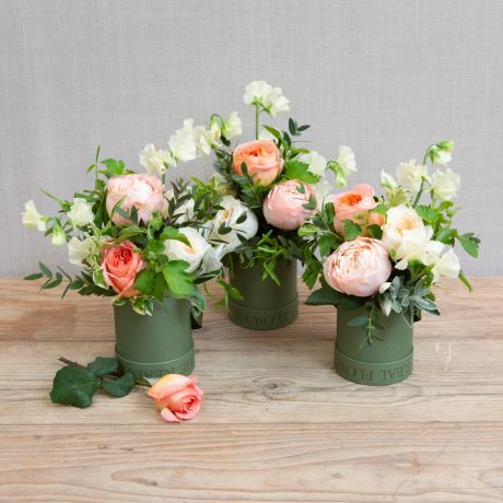 florist choice hat box trio