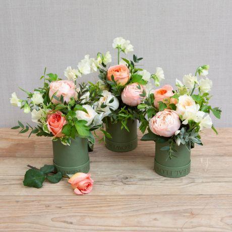 florist choice hat box trio