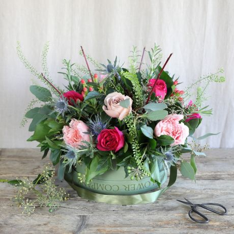 florist choice hatbox flowers