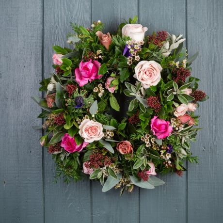 Florist Choice Rose Door Wreath