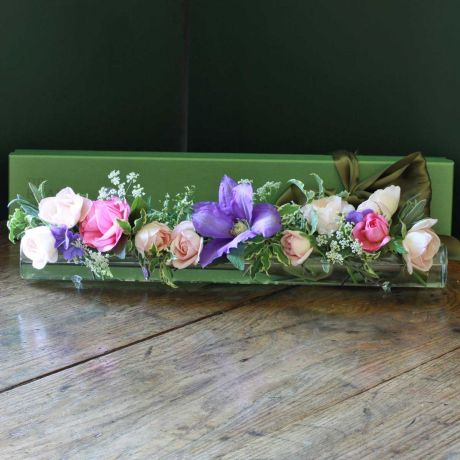 Glass Flower Table Display Tube