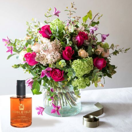 Tea Rose Bouquet – The Real Flower Company and Noble Isle