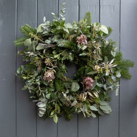Lavender and Lime Eco-Friendly Moss Door Wreath