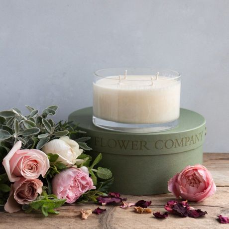 Luxury Moroccan Rose Bowl Candle