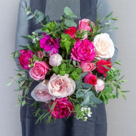 mixed pink pick of the day bouquet