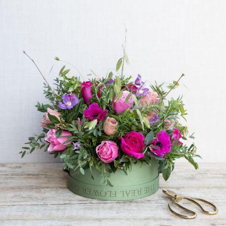 Mothers Day Woodland Hat Box Arrangement