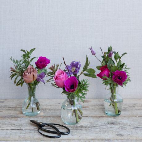 Mothers Day Woodland Vase Trio