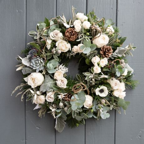 nordic rose wreath