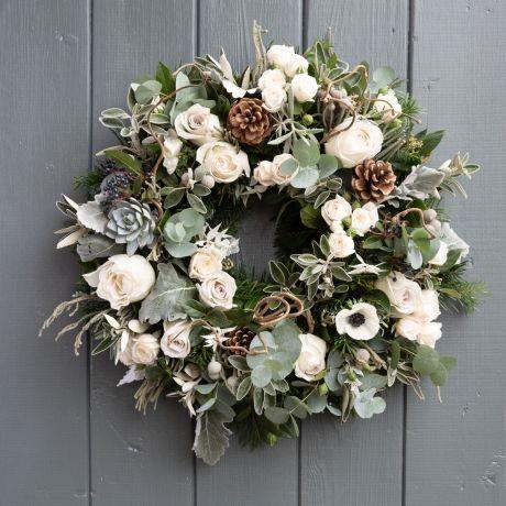 nordic rose wreath