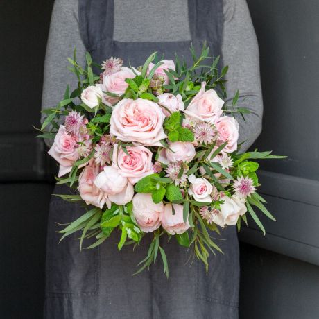 Pastel Pink Pick Of The Day Bouquet HH shot June 2021