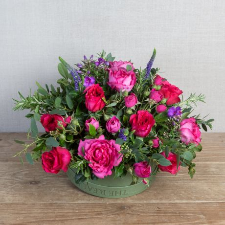 Pink Passions Valentine's Hatbox Arrangement