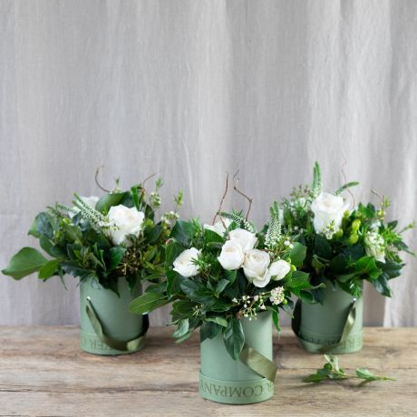 pure hatbox flower trio