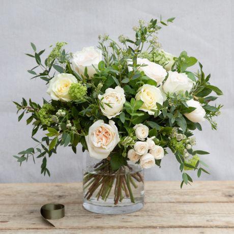 pure valentines bouquet