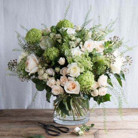 Pure White and Green Bouquet