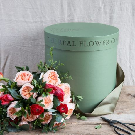 The real flower company hat box
