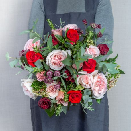 red and antique bouquet