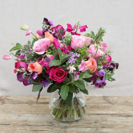 Rose & Sweet Pea Jewel Bouquet