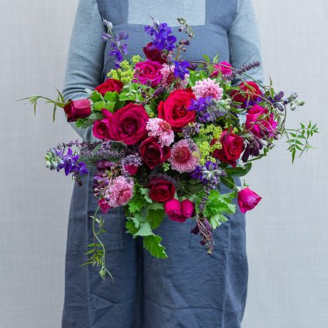 English Rose and Jewel Bouquet