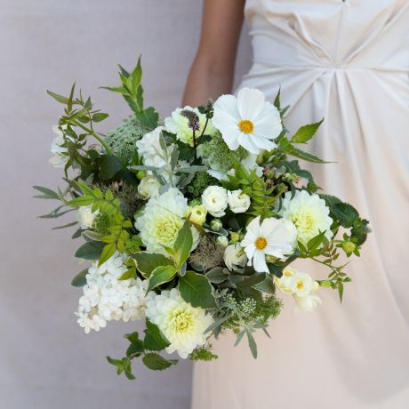 Seasonal White & Ivory Bridal Bouquet