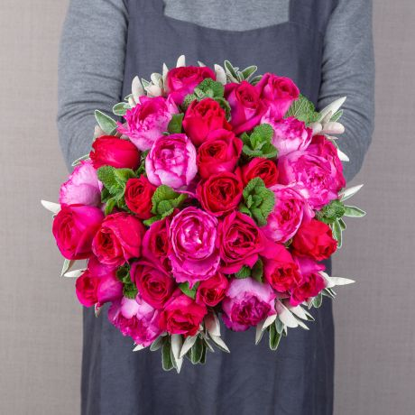 simply hot pink bouquet