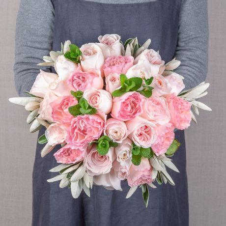 simply pastel pink bouquet