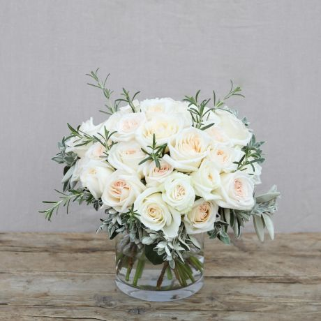 simply white O'hara bouquet
