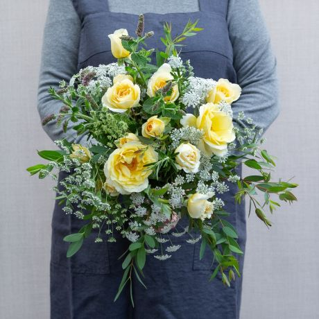 summer yellow seasonal posy
