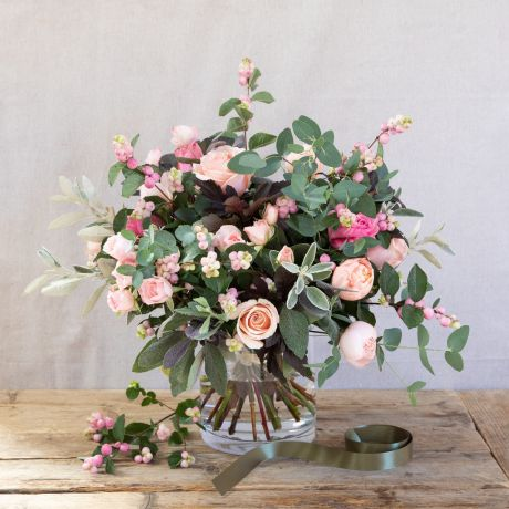 Sweet Snowberry & Rose Bouquet