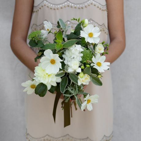 Seasonal White & Ivory Bridesmaid Bouquet