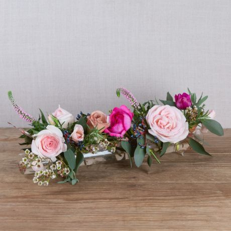 winter florist choice glass flower tube and posy