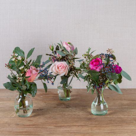winter florist choice vase trio