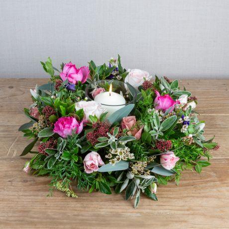 winter florist choice table wreath