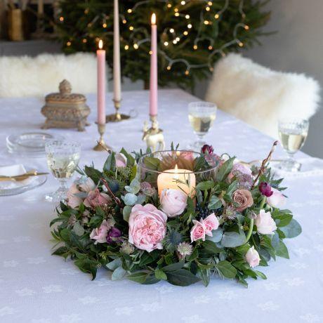 woodland antique christmas table wreath