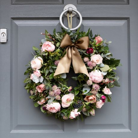 Woodland Antique Fresh Christmas Door Wreath