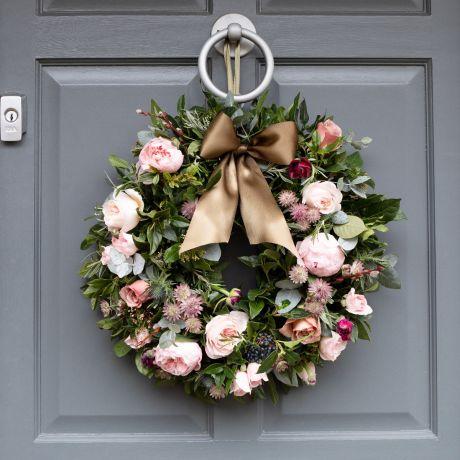 Woodland Antique Fresh Christmas Door Wreath