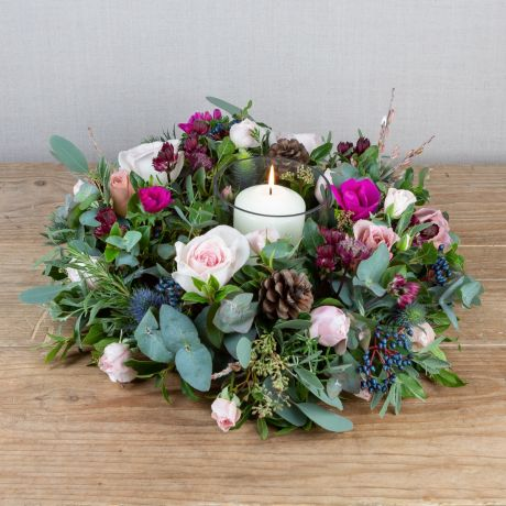 woodland antique table wreath