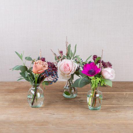 woodland antique vase trio
