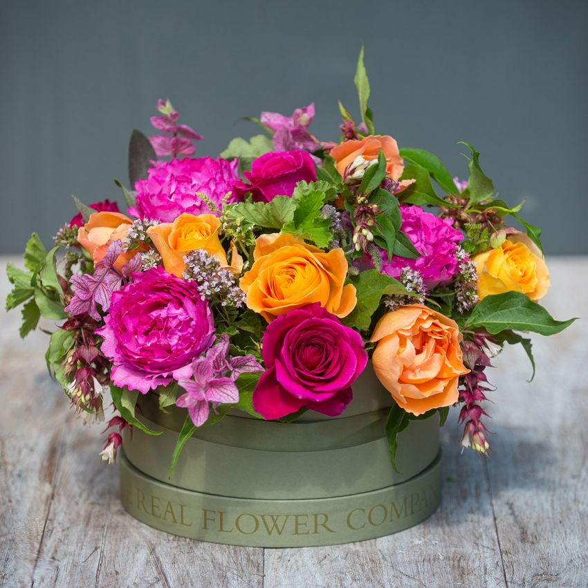 Autumn Jewels Hat Box Arrangement