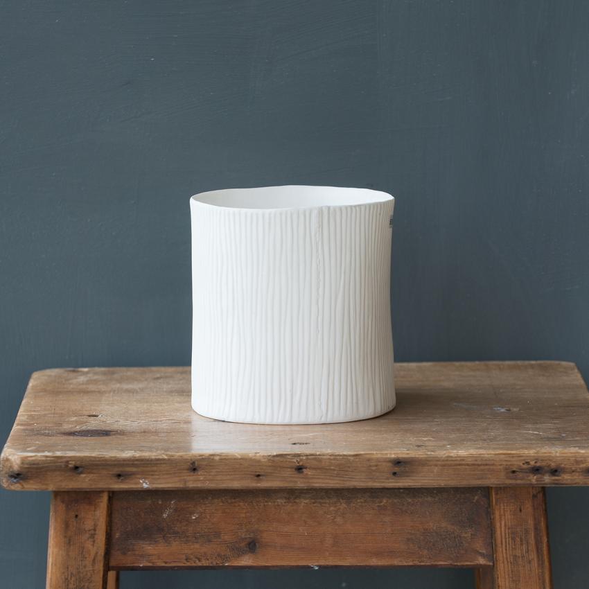 White Bark Style Vase