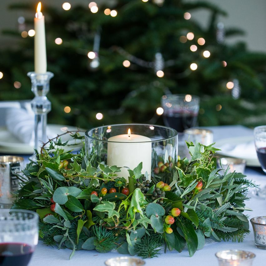 Berry, Herb & Foliage Table Wreath