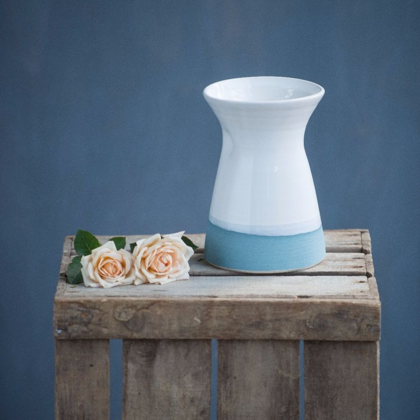 Blue Hand-painted Dimple Vase