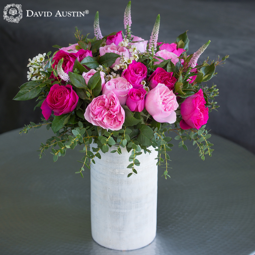 David Austin Mixed Pink Bouquet