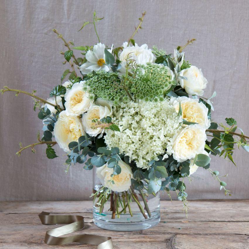 David Austin Pure Patience Bouquet