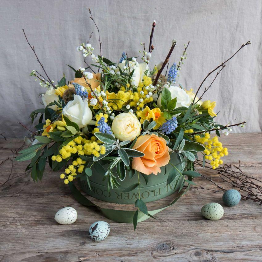 Easter Hat Box Arrangement