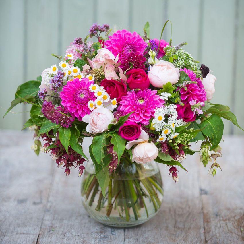 Dahlia, Rose & Wildflower Bouquet