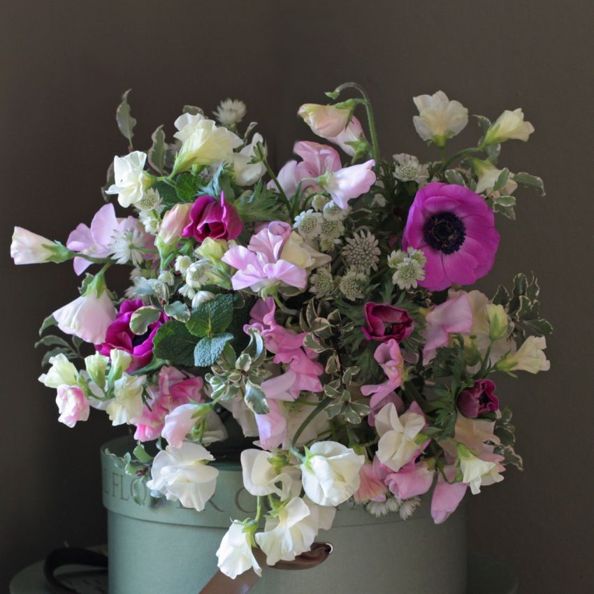 Sweet Pea & Spring Flower Bouquet