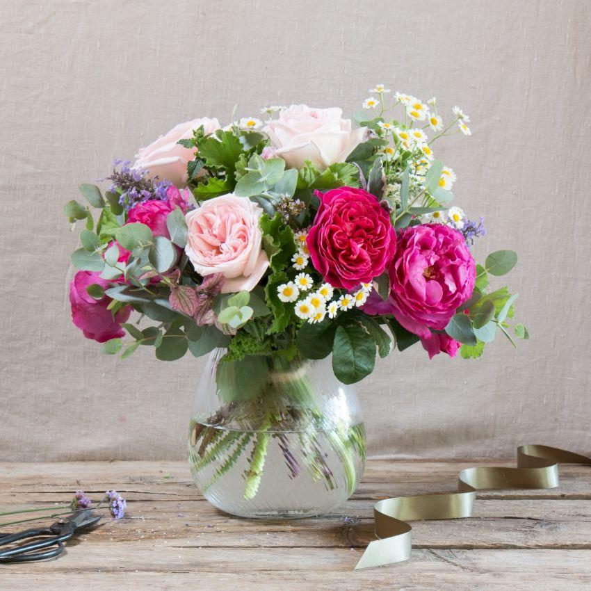 Fairtrade Pinks & Wildflower Bouquet