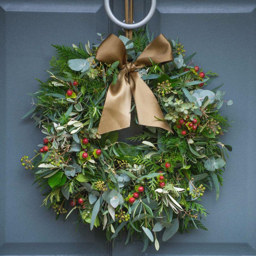 Berry, Herb & Foliage Door Wreath