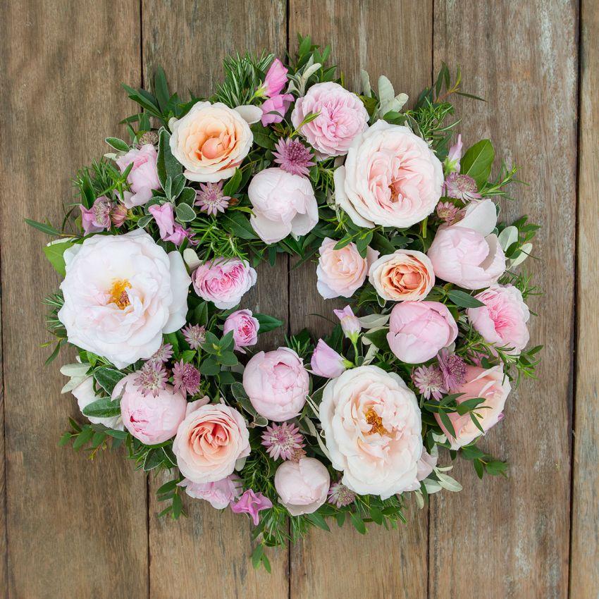 Pastel Pink Sympathy Wreath